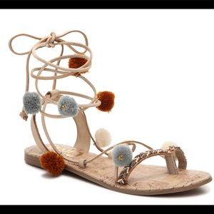 Circus by Sam Edelman Pom Pom Lace Up Sandals